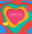 templates with paper cut in shapes of heart vector image vector image