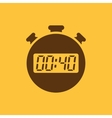 The 40 seconds minutes stopwatch icon Clock and vector image vector image