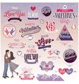 valentine emblems2 vector image vector image