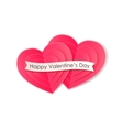 Valentines day background with paper hearts vector image vector image