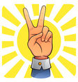 Victory Hand vector image vector image