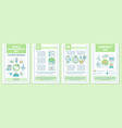 world environment day brochure template layout vector image