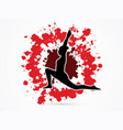 yoga posing sport woman graphic vector image vector image