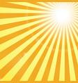 Shining Sun Rays Backgroung vector image