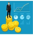 Concept of wealth vector image