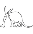 aardvark for coloring book vector image vector image