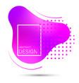 abstract liquid shape gradient vector image vector image