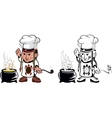 american indian chef vector image vector image