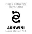 astrology lunar station ashwini nakshatra vector image vector image