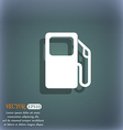 Auto gas station icon symbol on the blue-green vector image
