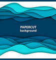 background with deep blue and white color paper vector image vector image