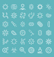 bacteria and virus cute microorganism icon set vector image