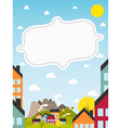 Banner with small town vector | Price: 3 Credits (USD $3)