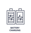 battery charging line icon concept battery vector image vector image