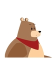 Bear cartoon comic cartoon icon vector image
