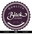 BLACK hand lettering vector image vector image
