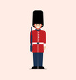 british army soldier vector image vector image