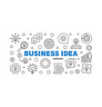 business idea concept outline banner or vector image vector image