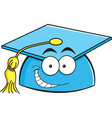 Cartoon smiling graduation cap vector image vector image