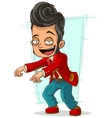 Cartoon stylish dancer in red jacket vector image vector image