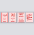 collection four creative sale flyers colorful vector image