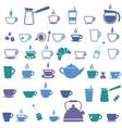 Colorful offee cup and Tea cup icons vector image vector image