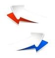 convex arrows vector image vector image