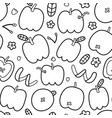 doodle apple pattern trendy outline drawing