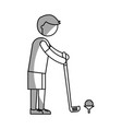 ethlete practicing golf avatar vector image
