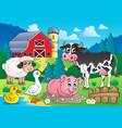farm animals theme image 3 vector image vector image