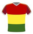 flag t-shirt of senegal vector image vector image