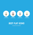 flat icon christian set of building traditional vector image vector image
