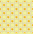 fried egg faces seamless pattern kawaii cartoon vector image vector image