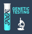 genetic testing logo icon design vector image vector image