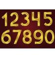 Golden numbers vector image vector image