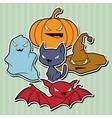 Halloween elements set vector image vector image