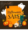 Halloween sale offer design template vector image vector image