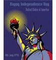 Happy Independence Day 4 July US holidays concept vector image vector image