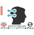 Head Connectors Flat Icon With 2017 Bonus Trend vector image vector image