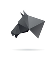 Horse head abstract isolated on a white background vector image vector image