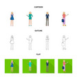 isolated object of posture and mood symbol vector image