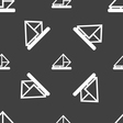 letter envelope mail icon sign Seamless pattern on vector image vector image