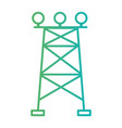 line towel energy power conservation vector image vector image