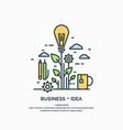 linear poster business idea vector image vector image