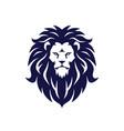 lion logo design mascot vector image