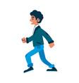 man walking or running in denim jeans vector image vector image