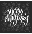 Merry Christmas calligraphic hand lettering on vector image vector image