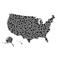 mosaic map of usa territories of geometric shapes vector image