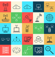Network web icons vector image vector image