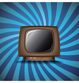 Old analog television vector image vector image